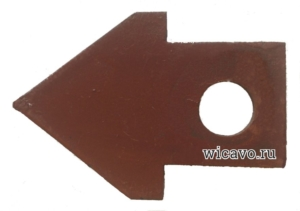 Лопатка-стрела для троса сантехнического