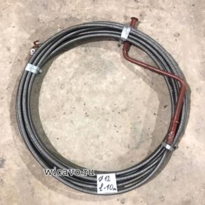 Трос сантехнический диаметр 12мм, длина 10 метров